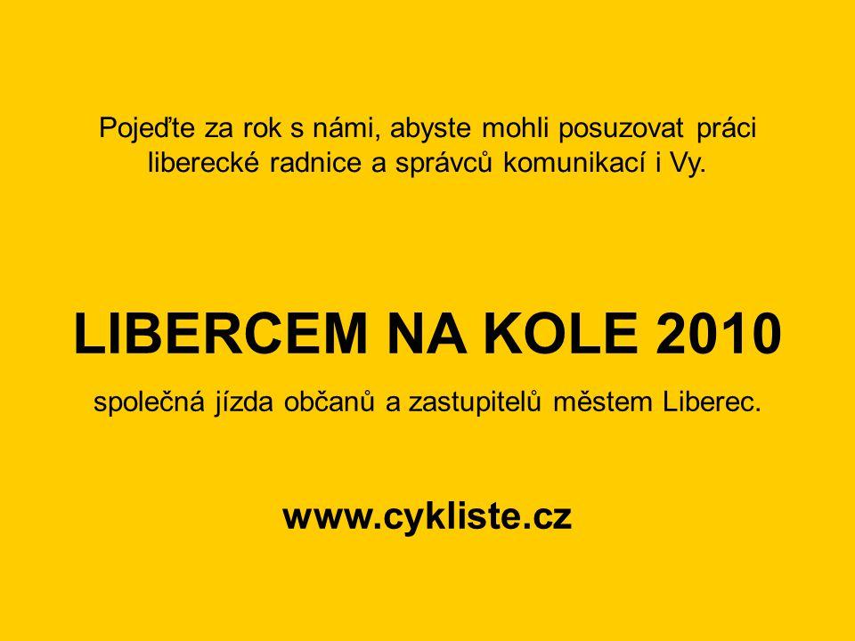 společná jízda občanů a zastupitelů městem Liberec.
