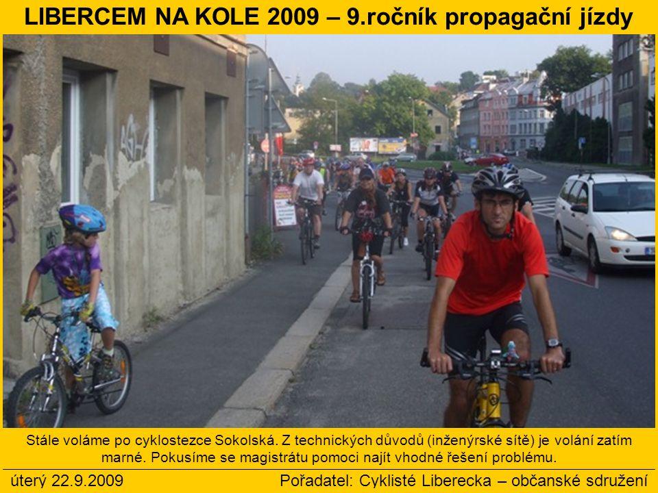 LIBERCEM NA KOLE 2009 – 9.ročník propagační jízdy
