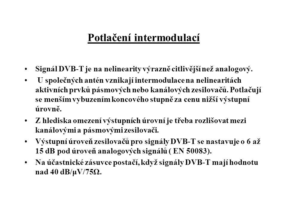 Potlačení intermodulací