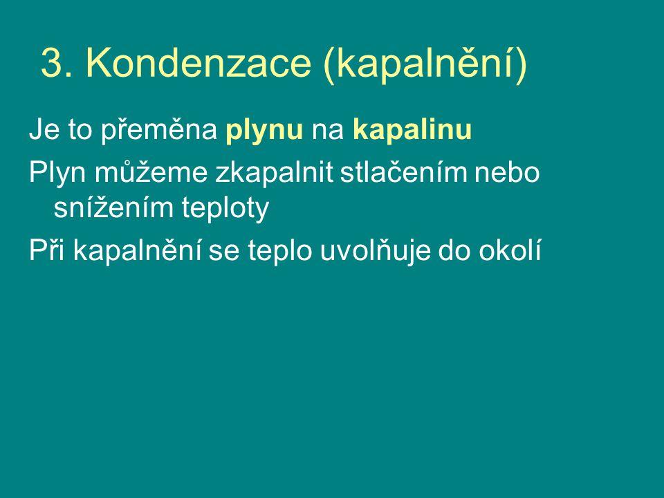 3. Kondenzace (kapalnění)