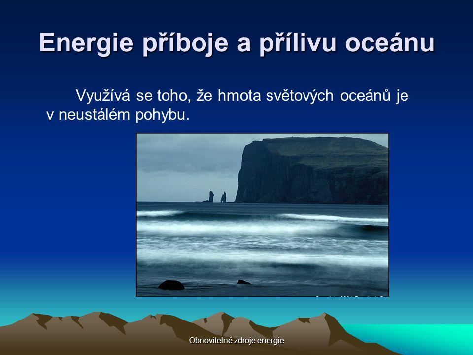 Energie příboje a přílivu oceánu