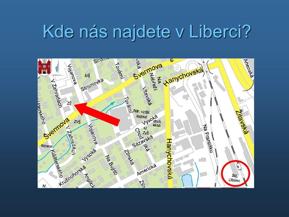 Kde nás najdete v Liberci