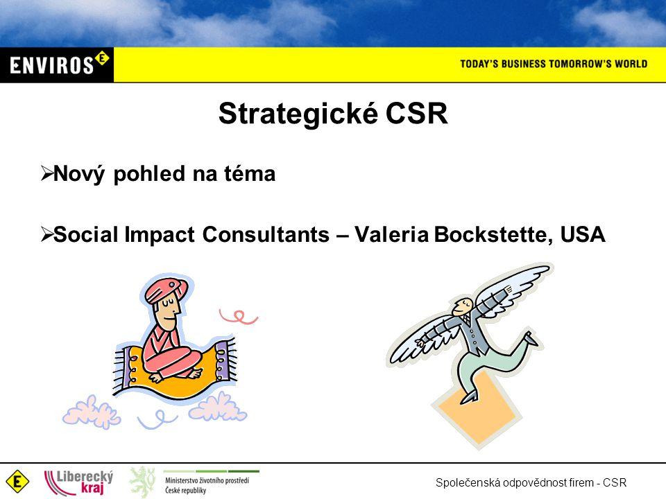 Strategické CSR Nový pohled na téma