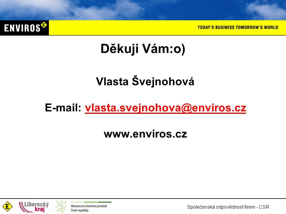 E-mail: vlasta.svejnohova@enviros.cz