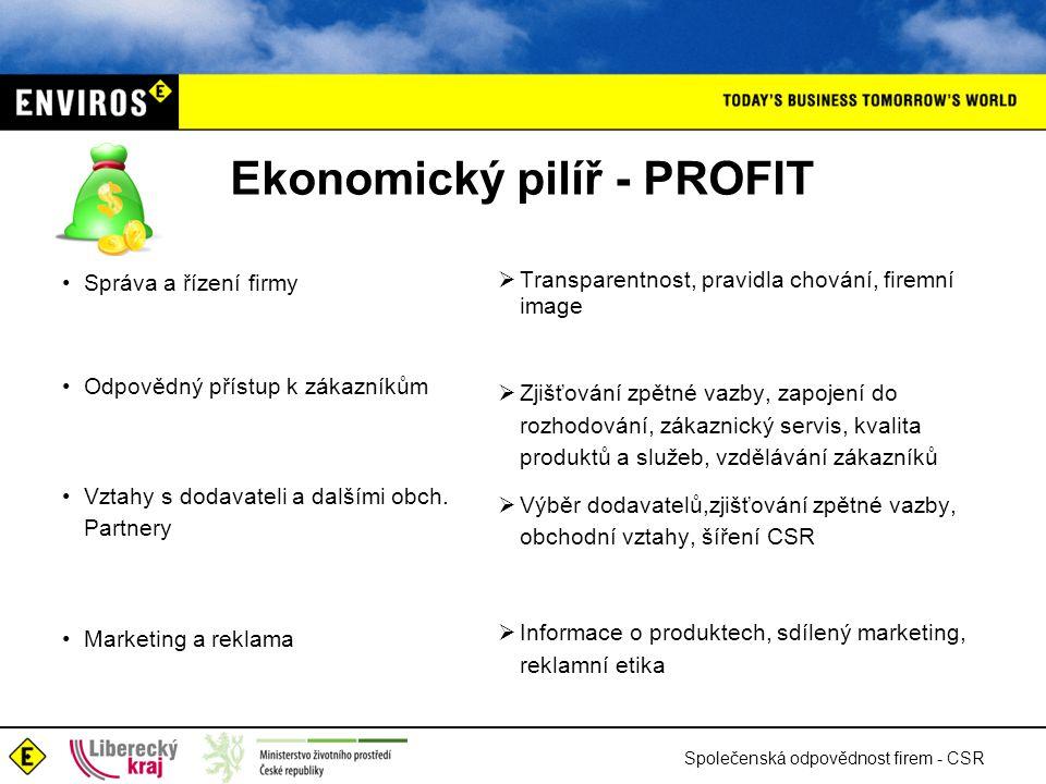Ekonomický pilíř - PROFIT