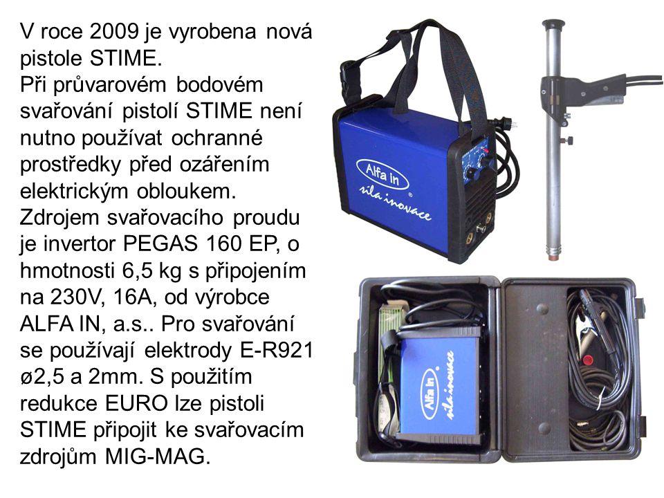 V roce 2009 je vyrobena nová pistole STIME.