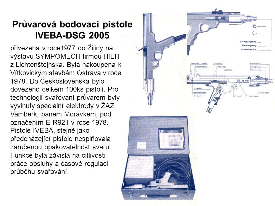 Průvarová bodovací pistole