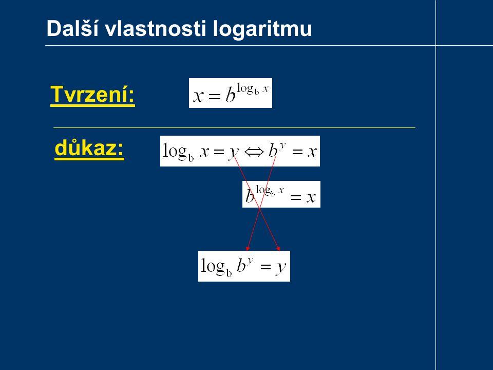 Další vlastnosti logaritmu