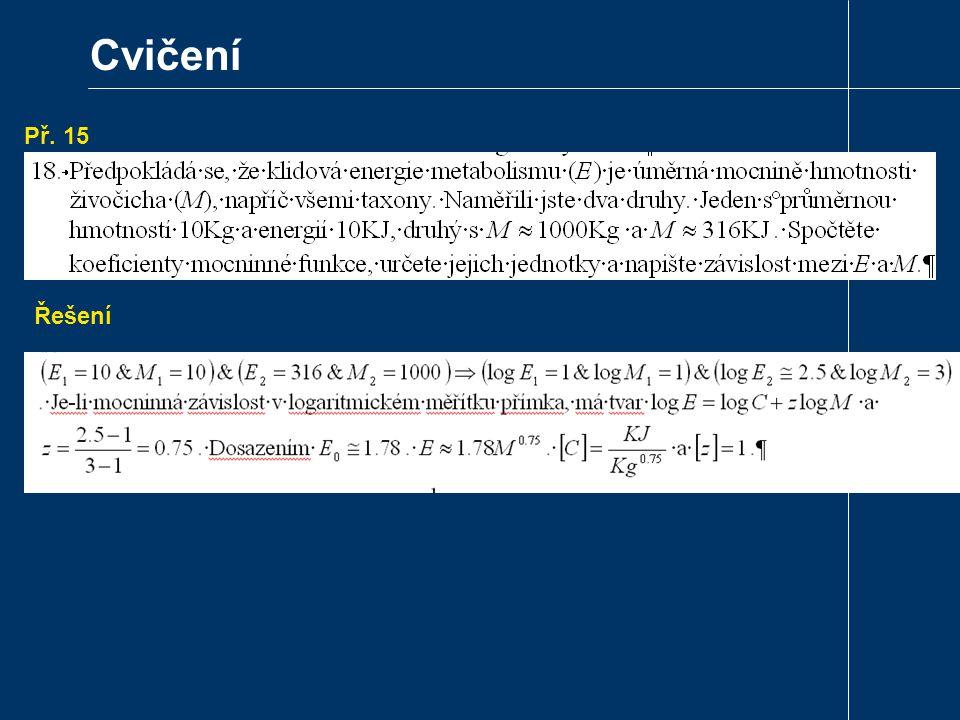 Cvičení Př. 15 Převeďte mocninu . na mocninu Eulerova čísla. Řešení
