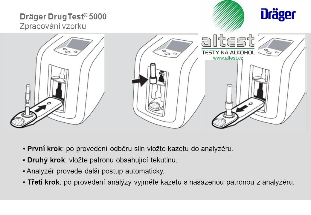Dräger DrugTest® 5000 Zpracování vzorku