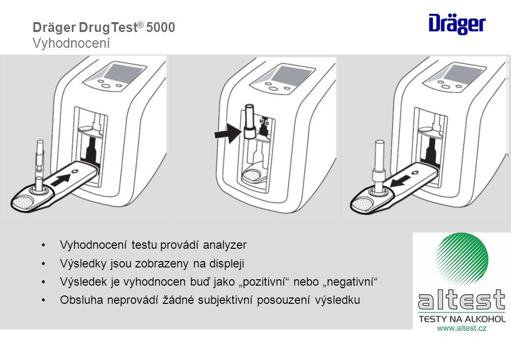 Dräger DrugTest® 5000 Vyhodnocení