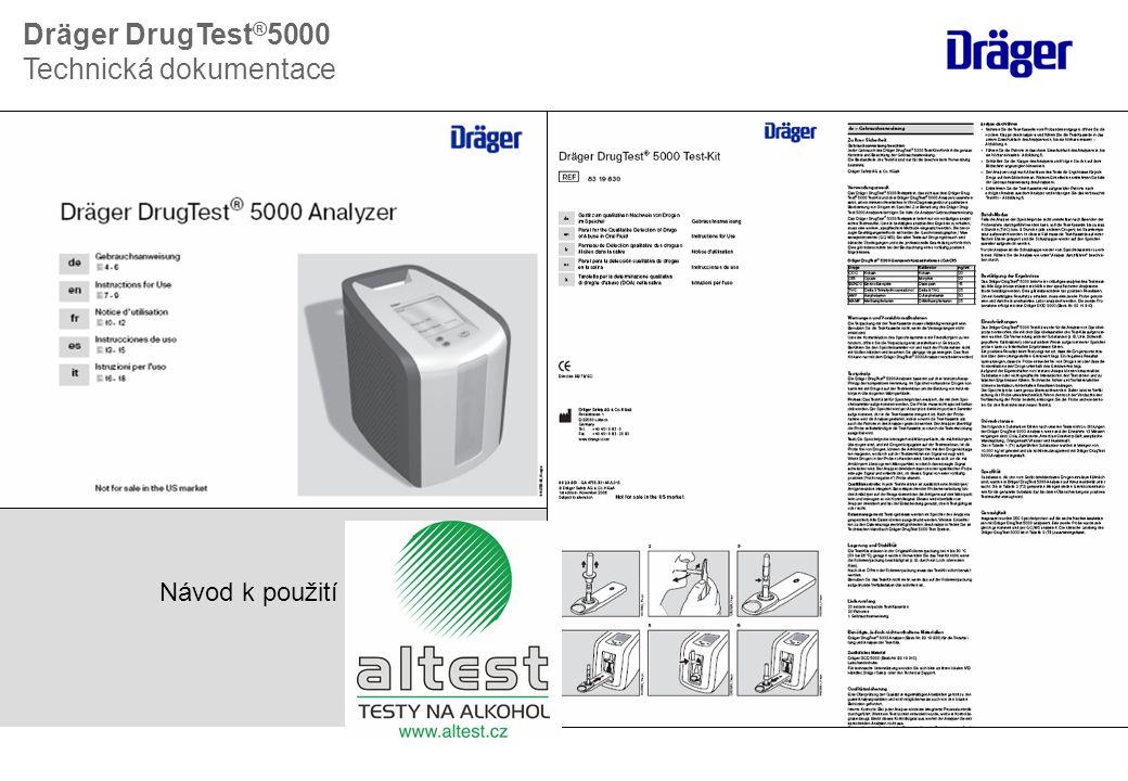 Dräger DrugTest®5000 Technická dokumentace