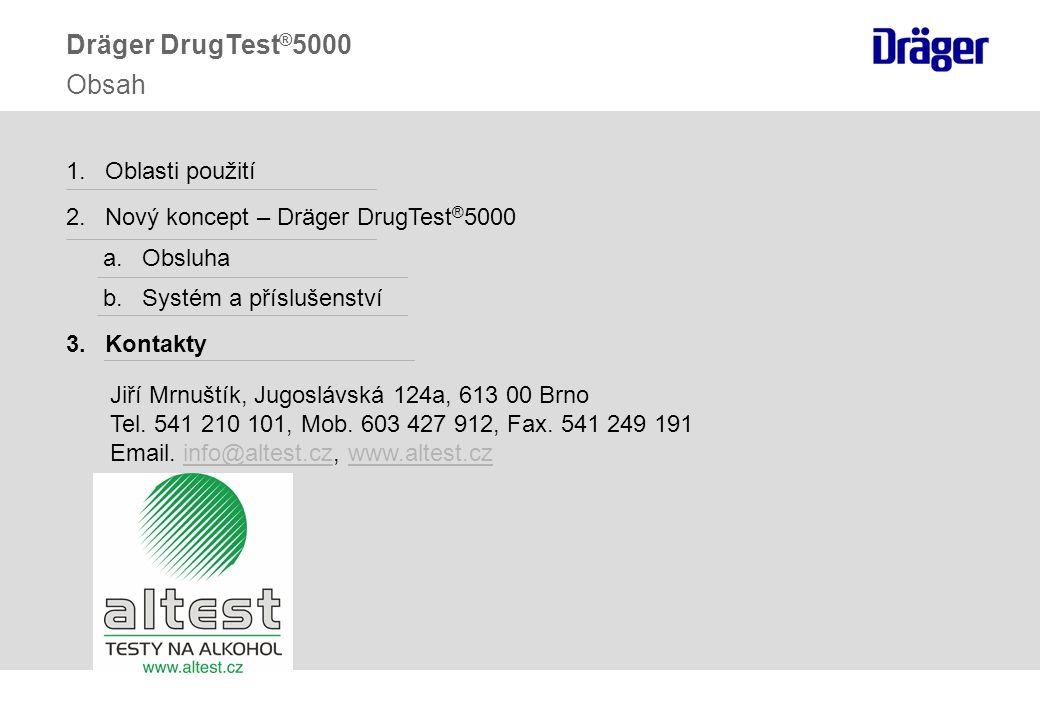 Dräger DrugTest®5000 Obsah