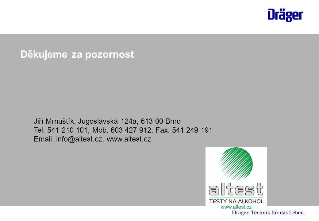 Děkujeme za pozornost Jiří Mrnuštík, Jugoslávská 124a, 613 00 Brno