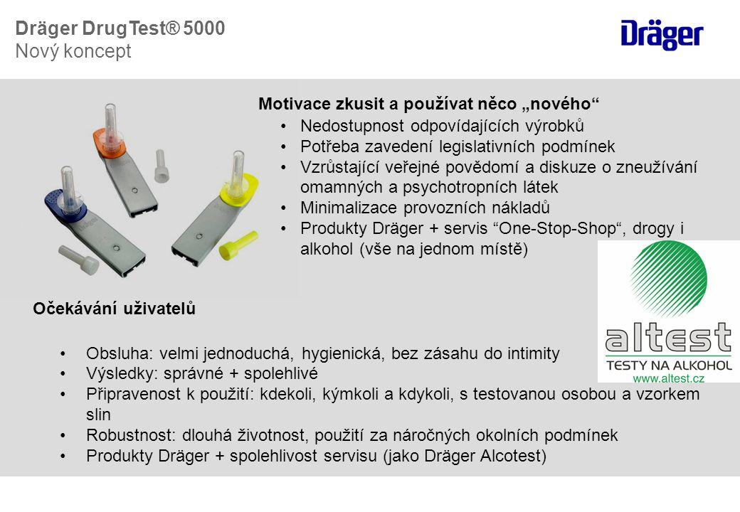 Dräger DrugTest® 5000 Nový koncept