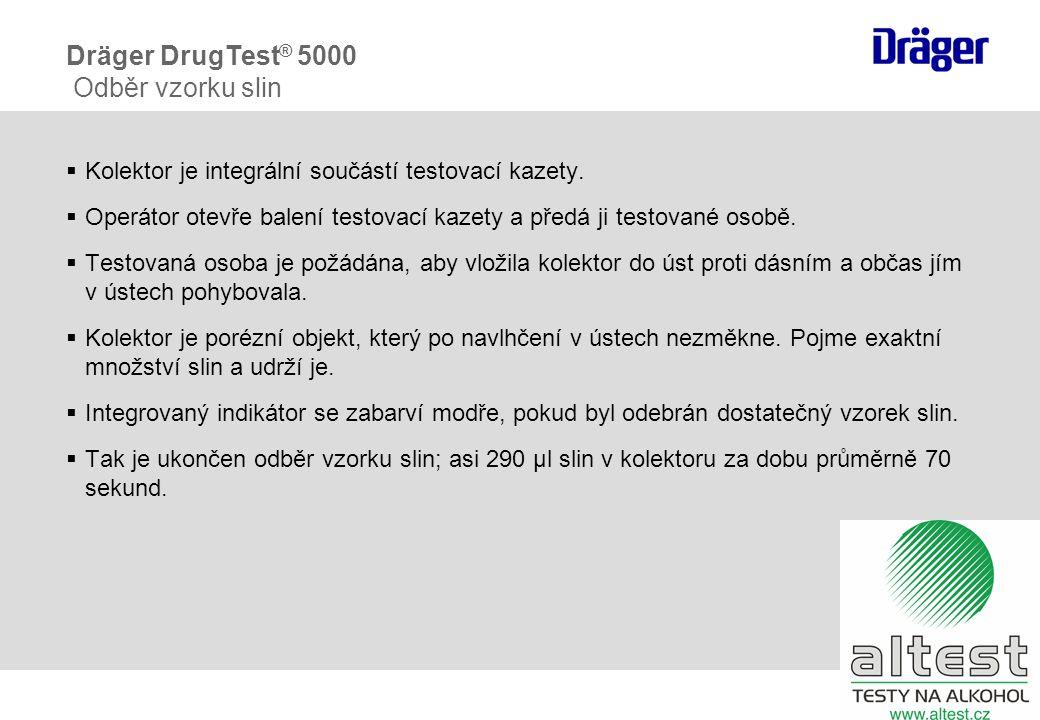 Dräger DrugTest® 5000 Odběr vzorku slin