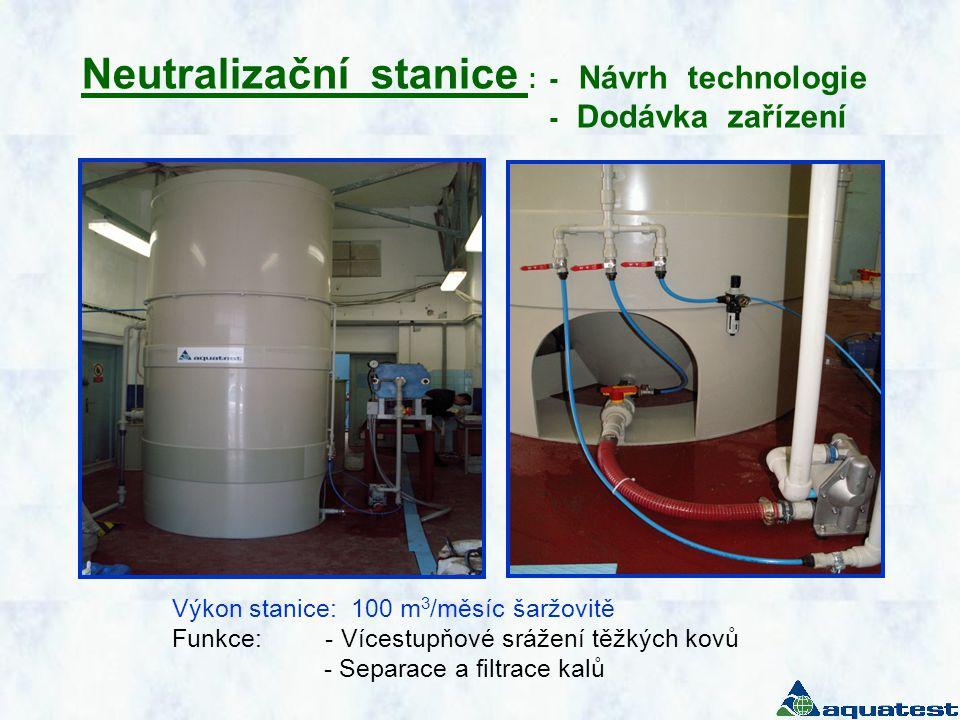 Neutralizační stanice : - Návrh technologie