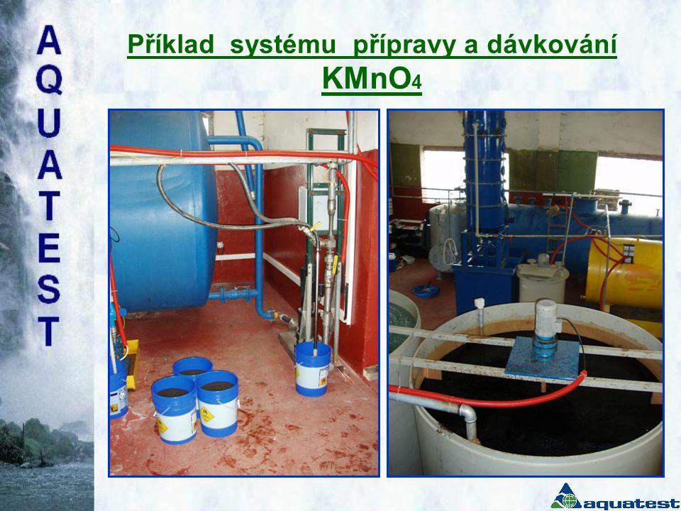 Příklad systému přípravy a dávkování KMnO4