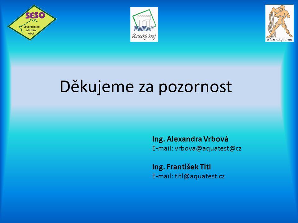 Děkujeme za pozornost Ing. Alexandra Vrbová Ing. František Titl