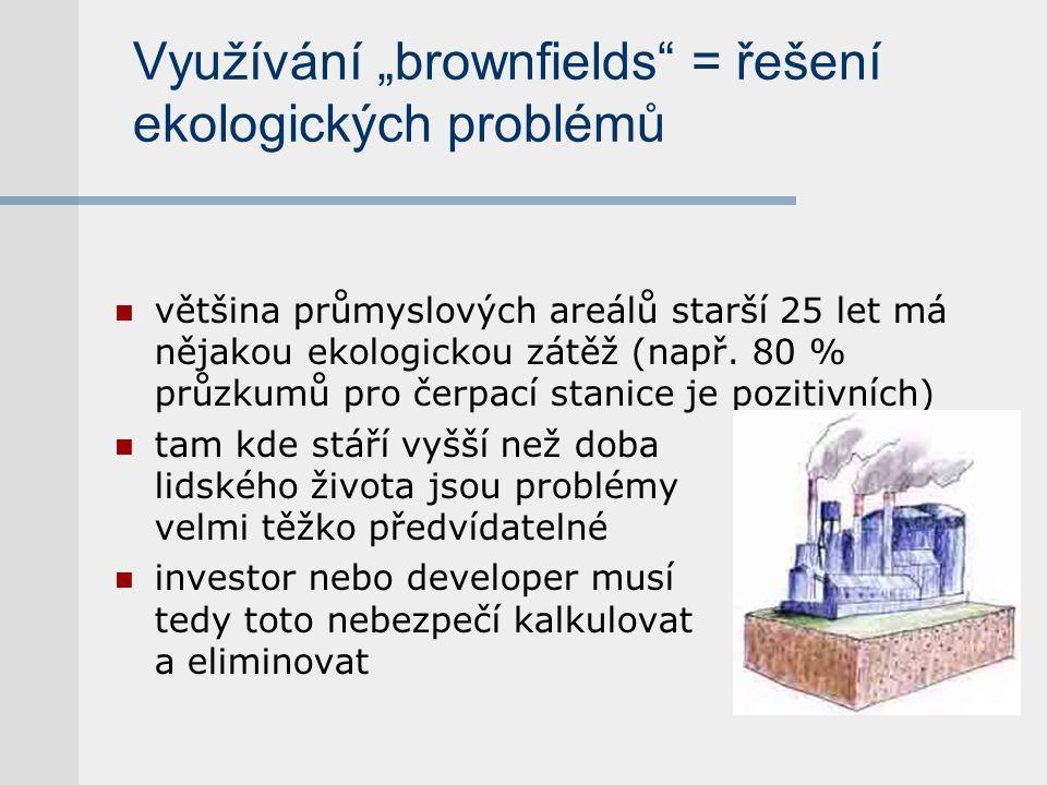 """Využívání """"brownfields = řešení ekologických problémů"""