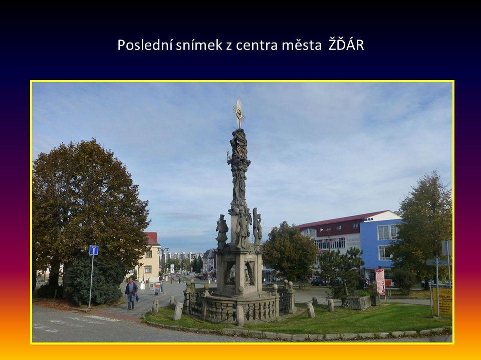 Poslední snímek z centra města ŽĎÁR