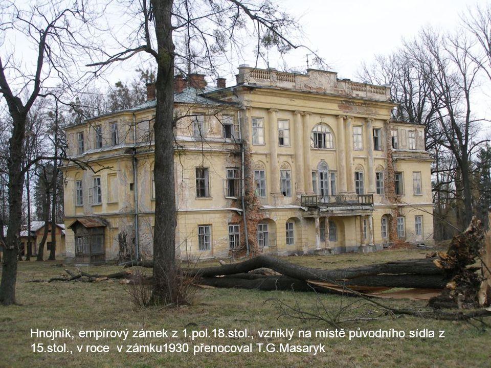 Hnojník, empírový zámek z 1. pol. 18. stol