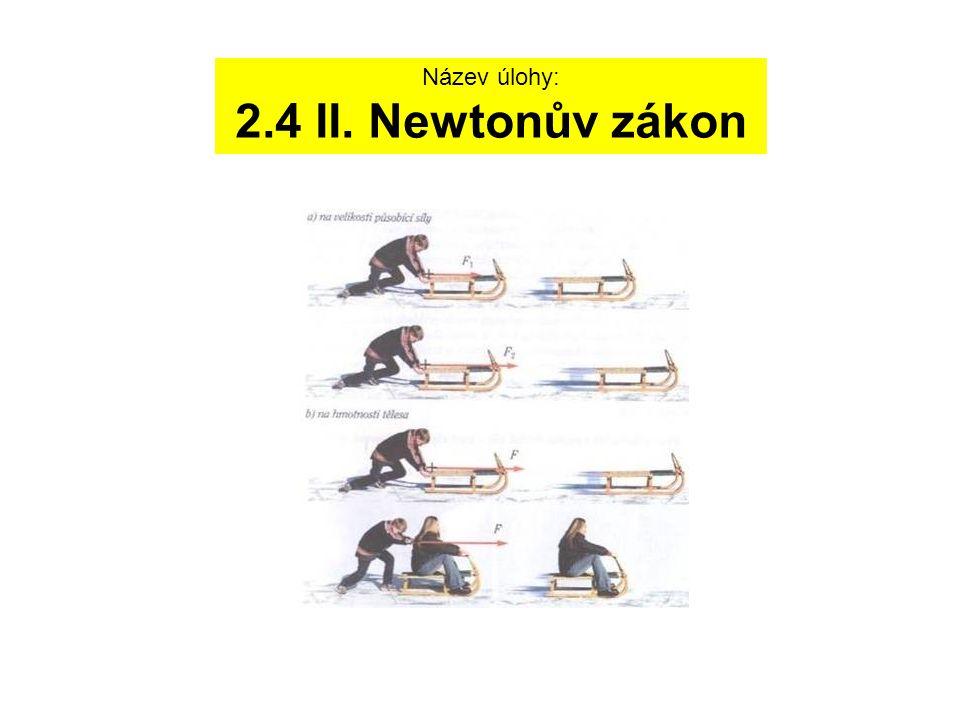 Název úlohy: 2.4 II. Newtonův zákon