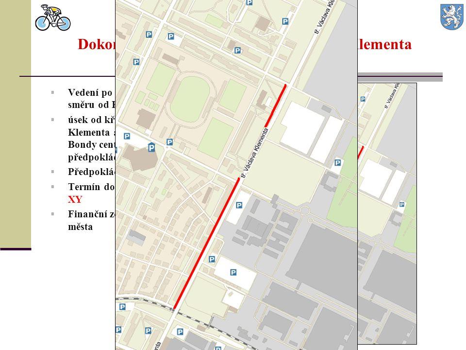 Dokončení cyklostezky na třídě Václava Klementa