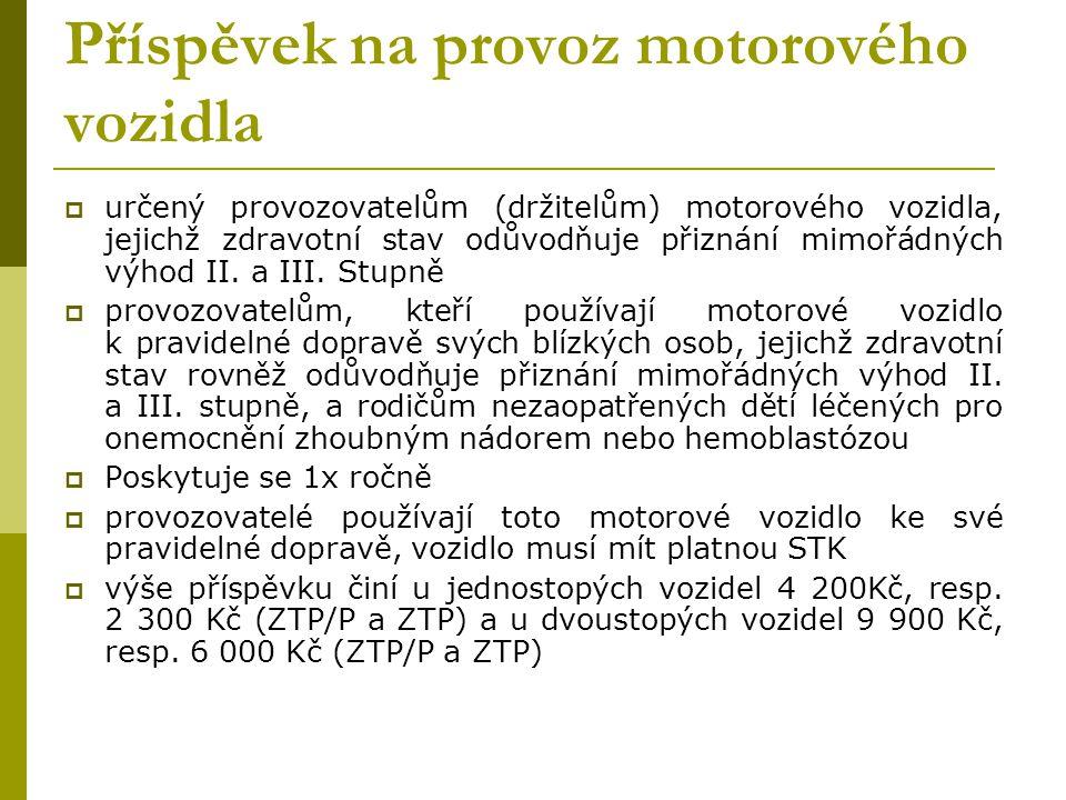 Příspěvek na provoz motorového vozidla