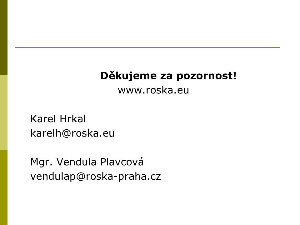 Děkujeme za pozornost. www.roska.eu. Karel Hrkal.