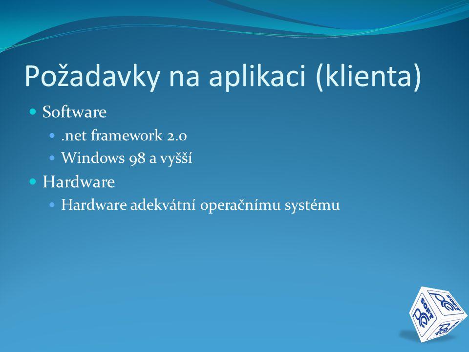 Požadavky na aplikaci (klienta)