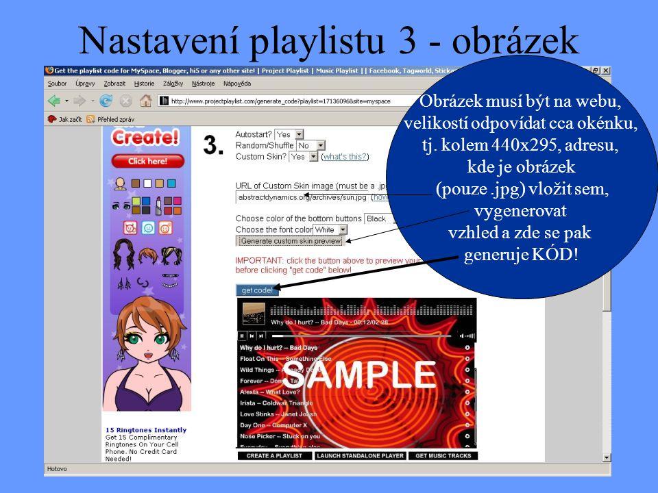 Nastavení playlistu 3 - obrázek
