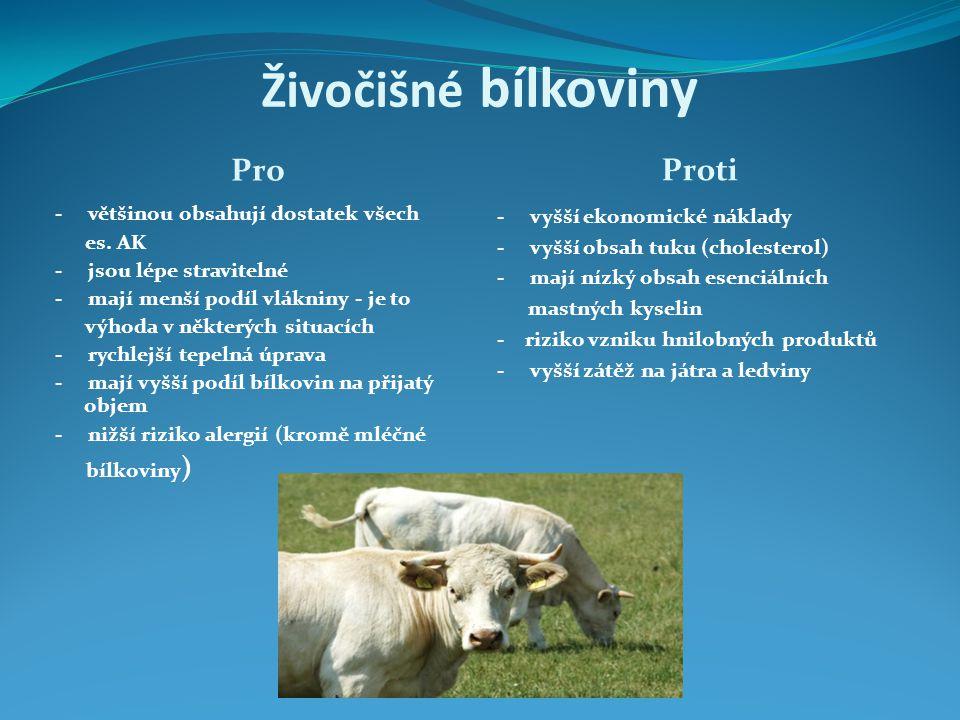 Živočišné bílkoviny Pro Proti
