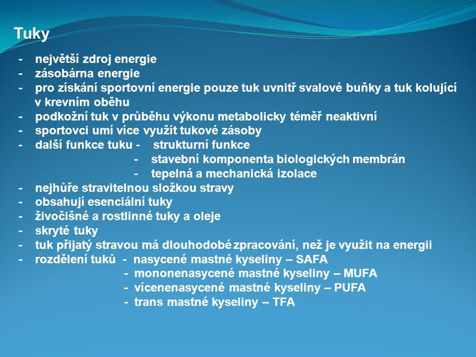 Tuky - největší zdroj energie - zásobárna energie