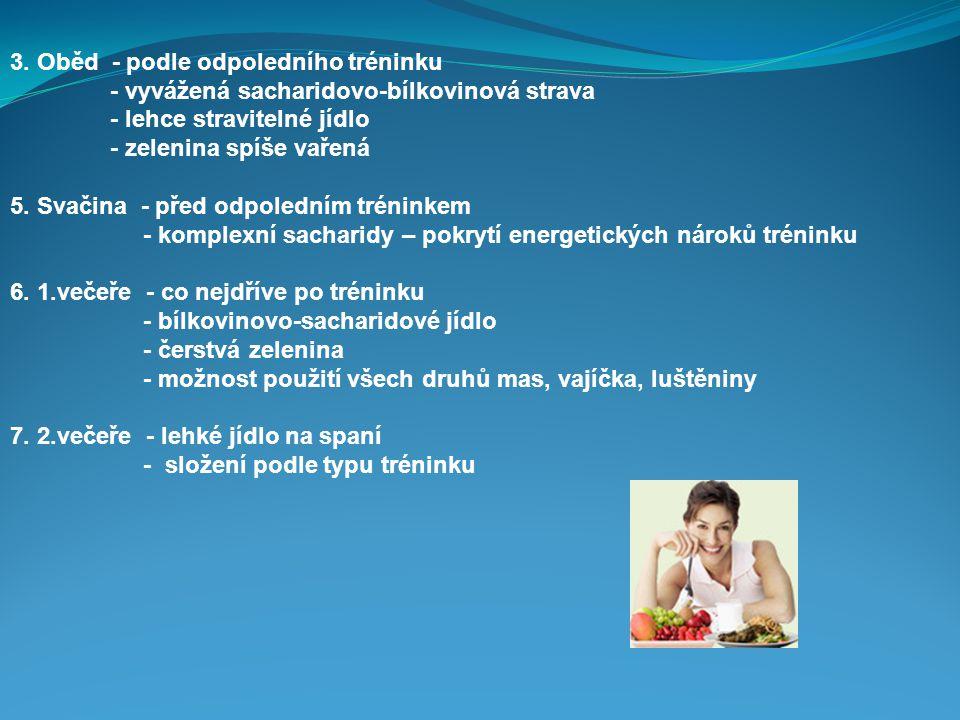 3. Oběd - podle odpoledního tréninku