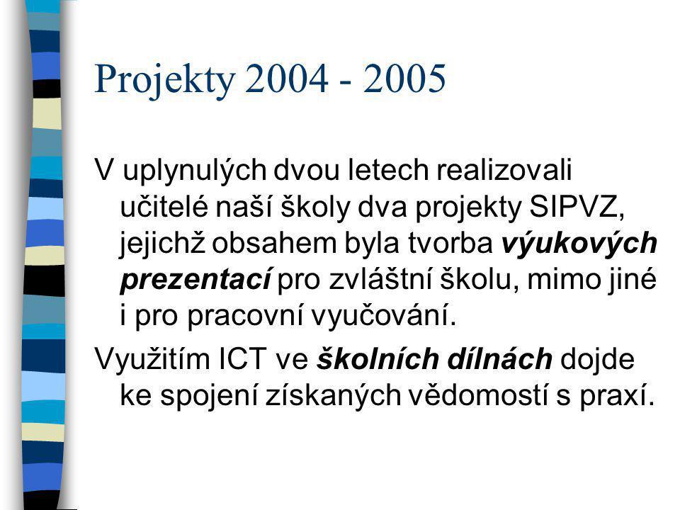 Projekty 2004 - 2005