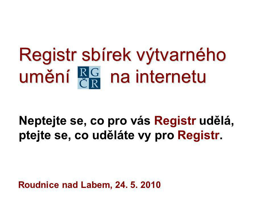Registr sbírek výtvarného umění na internetu