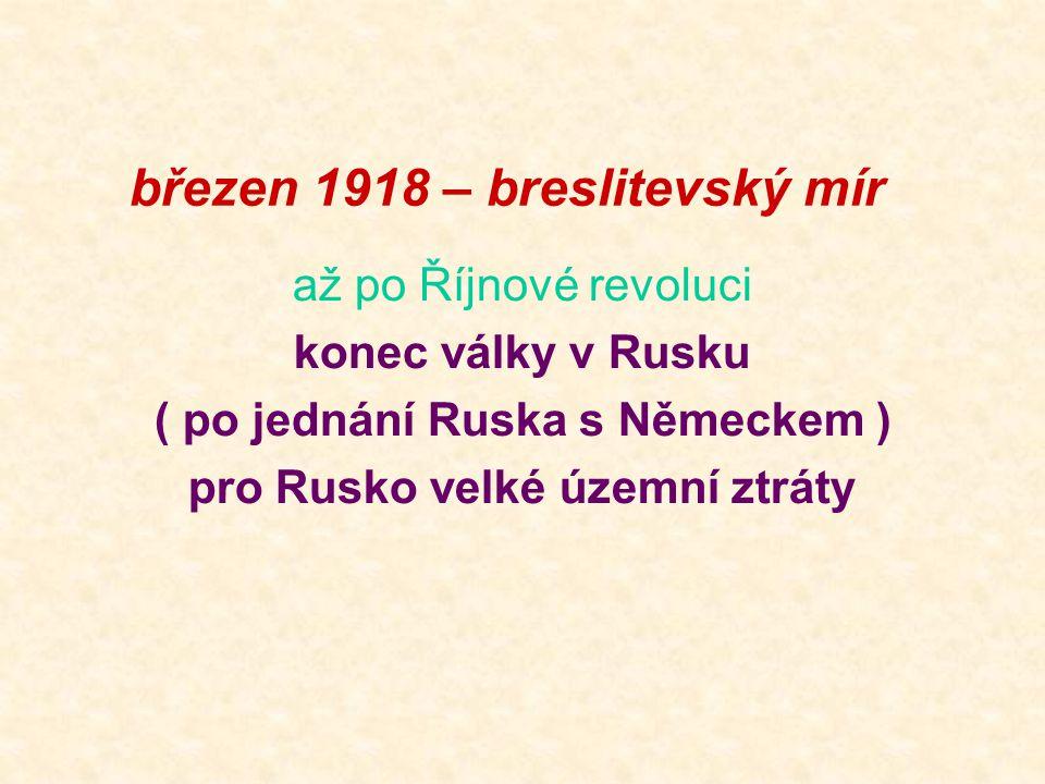 březen 1918 – breslitevský mír