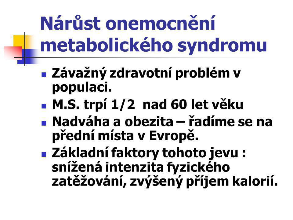 Nárůst onemocnění metabolického syndromu