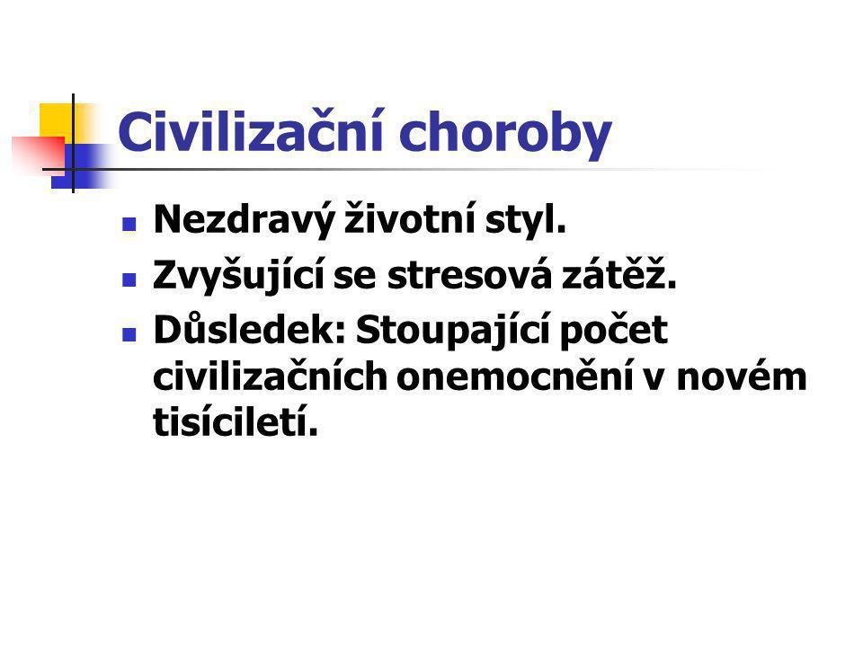 Civilizační choroby Nezdravý životní styl.