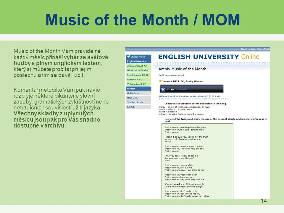 Music of the Month / MOM