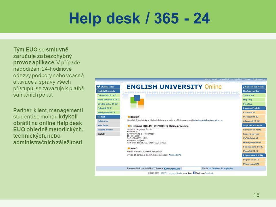 Help desk / 365 - 24