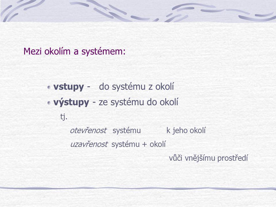 Mezi okolím a systémem:
