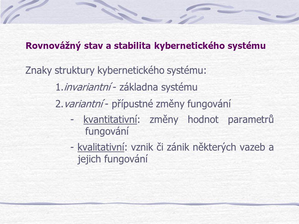 Rovnovážný stav a stabilita kybernetického systému