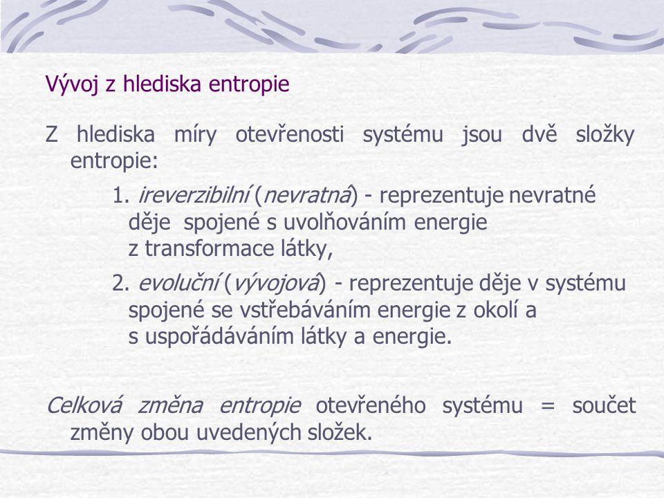 Vývoj z hlediska entropie