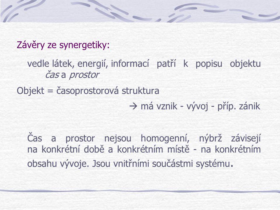 Závěry ze synergetiky: