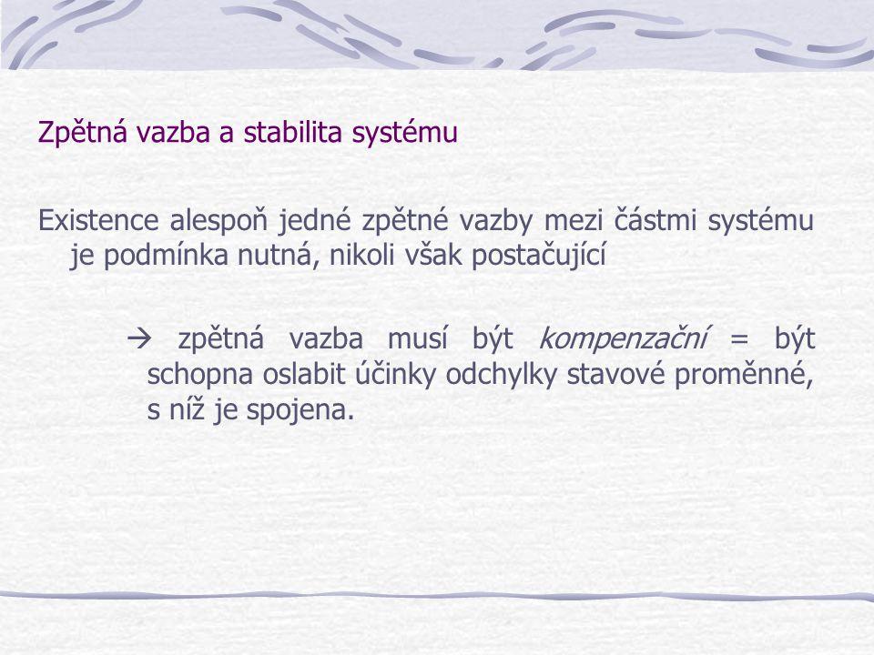 Zpětná vazba a stabilita systému
