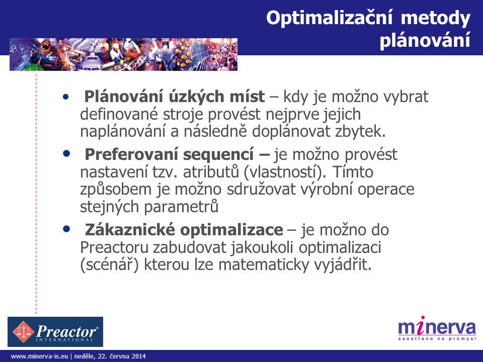 Optimalizační metody plánování