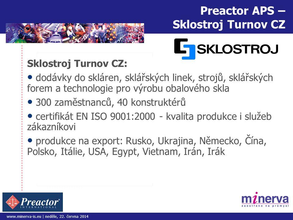 Preactor APS – Sklostroj Turnov CZ