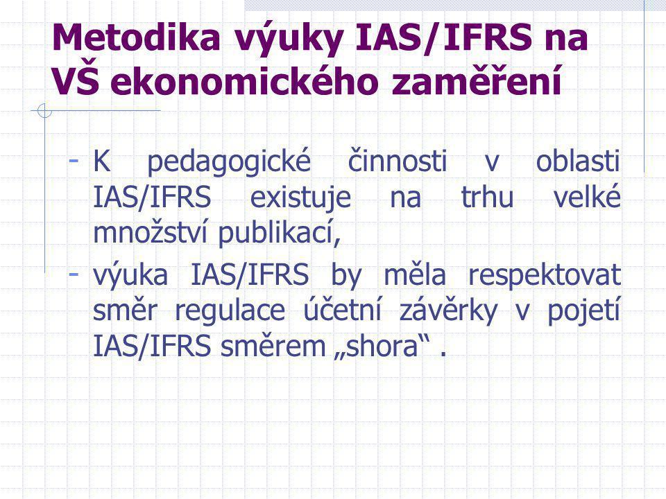 Metodika výuky IAS/IFRS na VŠ ekonomického zaměření